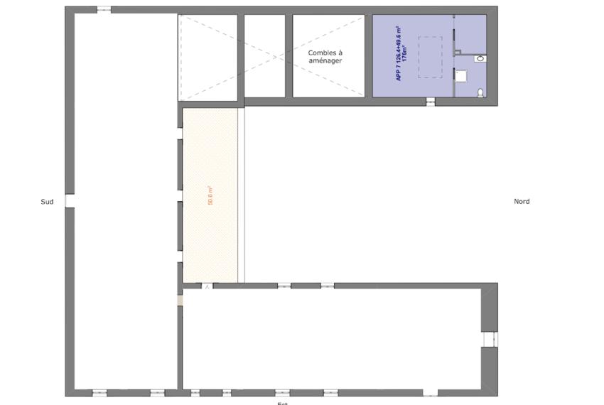 2ème étage Duplex aile Ouest